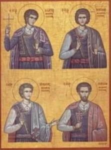 Οι Άγιοι τέσσερες Νεομάρτυρες Αγγελής, Μανουήλ, Γεώργιος και Νικόλαος από το χωριό Μέλαμπες της Κρήτης