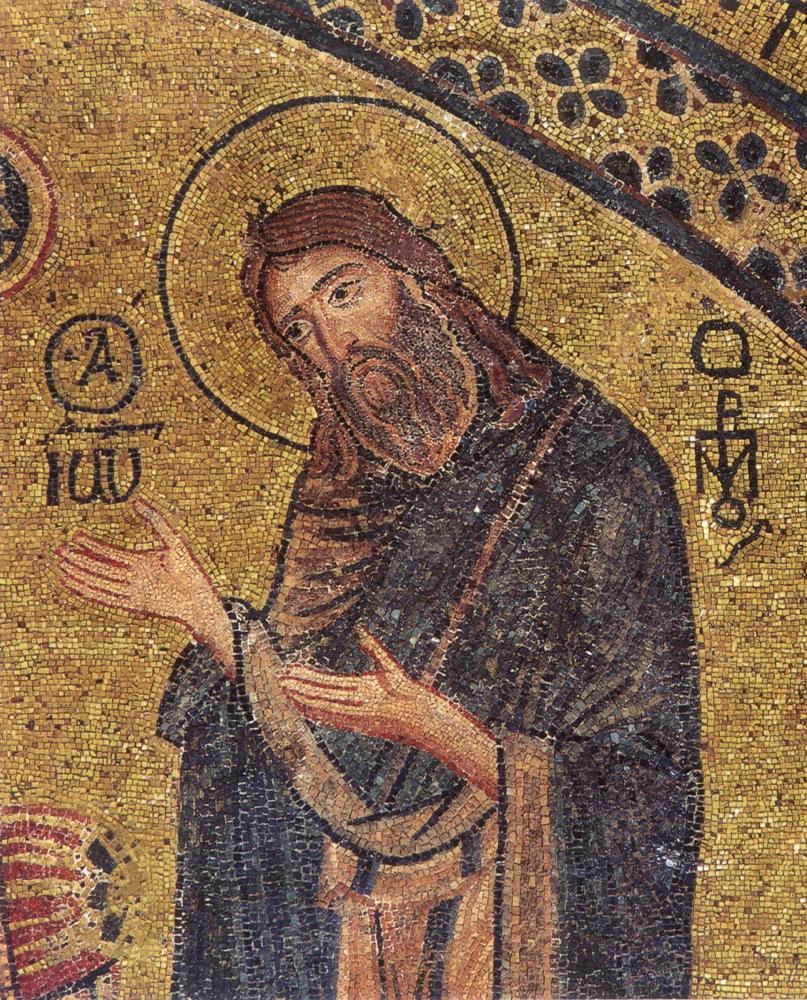 წმინდა იოანე ნათლისმცემელი, ფრაგმენტი ვედრების ფრესკიდან