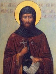 Ο Άγιος Αγάπιος από τη Σκήτη της Κολιτσούς και οι μετ' αυτού τέσσερις Όσιοι
