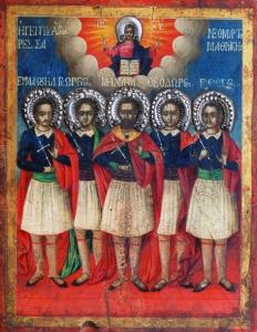 Οι Άγιοι Νεομάρτυρες Μανουήλ, Θεόδωρος, Γεώργιος, Μιχαήλ και Γεώργιος εκ Σαμοθράκης