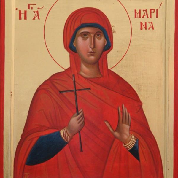 Συνοπτικό εγκώμιο στην αγία και δοξασμένη μεγαλομάρτυρα του Χριστού Μαρίνα
