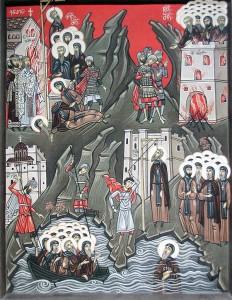 Ιβηρίτες Άγιοι εορτάζοντες την 13η Μαΐου
