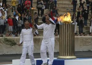 Η τελετή παράδοσης της Ολυμπιακής Φλόγας. Καλλιμάρμαρο, 17/05/2012