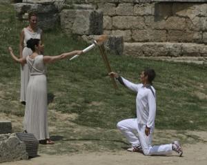 Η τελετή Αφής της Ολυμπιακής Φλόγας για τους Ολυμπιακούς Αγώνες «Λονδίνο 2012»