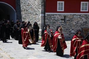 Πανήγυρις Βατοπαιδινών Αγίων (23 Ιουλίου 2012): Η υποδοχή του μητροπολίτη Σισανίου και Σιατίστης κ. Παύλου