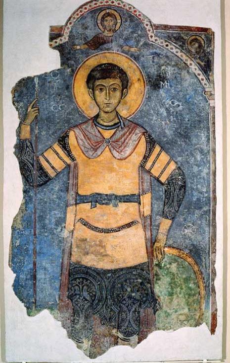 Ο Άγιος Δημήτριος, εικόνα του 13ου αι., από το Μουσείο της Μονής Κύκκου