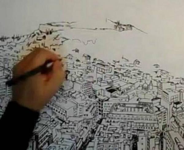 Ένα υπέροχο σκίτσο-video της Αθήνας