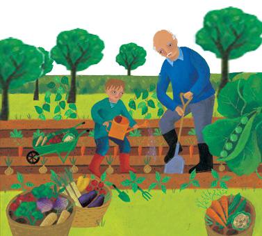Παιδί και κηπουρός