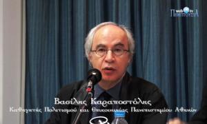 Καθηγητής Β. Καραποστόλης: «Η κυριαρχία της αγοράς στο δημόσιο χώρο και η ευθύνη της θεολογίας»