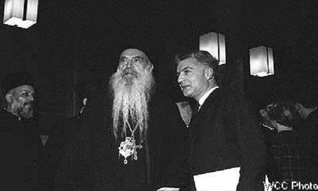 XP Title: H.H. Athenagoras I in conversation with Dr Nikos Nissiotis (1967)