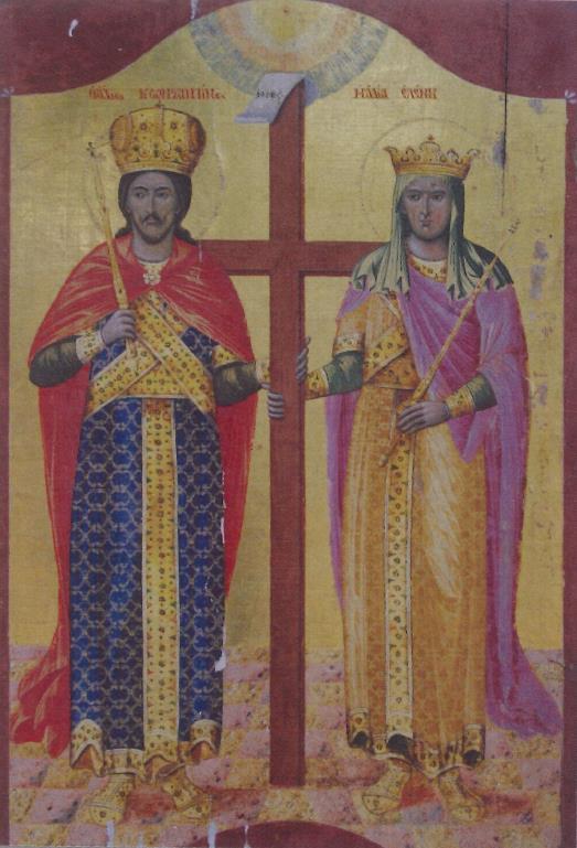 5. Ιερά Εικών των Αγίων ισαποστόλων Κωνσταντίνου και Ελένης (Καθολικόν Ιεράς Μονής Αγιάς Τριάδος Χάλκης)