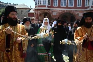Ο Πατριάρχης Μόσχας Κύριλλος στη Μονή Βατοπαιδίου