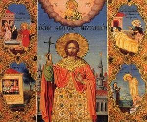 Ο Άγιος Θεόδωρος ο Βυζάντιος σώζει τη Μυτιλήνη από την πανώλη