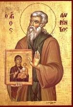 Όσιος  Λαυρέντιος, κτίτορας της Ιεράς Μονής Φανερωμένης Σαλαμίνος