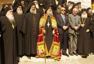 Ενθρόνιση του Ηγουμένου της Μονής Γρηγορίου (Στιγμές από τη Θ. Λειτουργία)