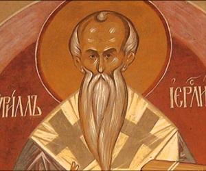 Ο άγιος Κύριλλος, αρχιεπίσκοπος Ιεροσολύμων