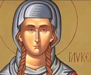 Αγία μάρτυς Γλυκερία και ο άγιος Λαοδίκιος, ο δεσμοφύλακας