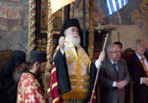 Υποδοχή Πατριάρχου Αλεξανδρείας στις Καρυές του Αγίου Όρους
