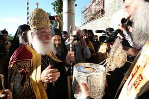 Επίσκεψη Πάπα και Πατριάρχη Αλεξανδρείας κ.κ. Θεοδώρου Β΄στη Μονή Βατοπεδίου