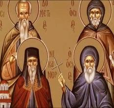 Ο Άγιος Οσιομάρτυρας Δομέτιος ο Πέρσης και οι δύο μαθητές του