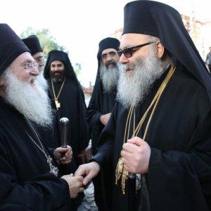 Επίσκεψις του Πατριάρχου Αντιοχείας στην Ιερά Μονή Βατοπαιδίου