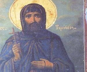 Ο Άγιος Νεομάρτυς Τιμόθεος ο Εσφιγμενίτης