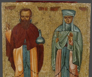 Ο θαυματουργός Ανδρόνικος η σύζυγός του οσία Αθανασία