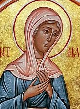 Η αγία προφήτις  Άννα, μητέρα  Σαμουήλ του προφήτου