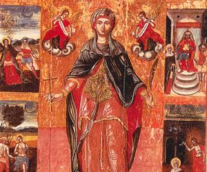 Η αγία Βαρβάρα στη Λαογραφία