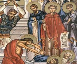 Λόγος Θεοδώρου Παλλαδά (πατρός του αγ. Γερασίμου) στους 10 Κρήτες Μάρτυρες