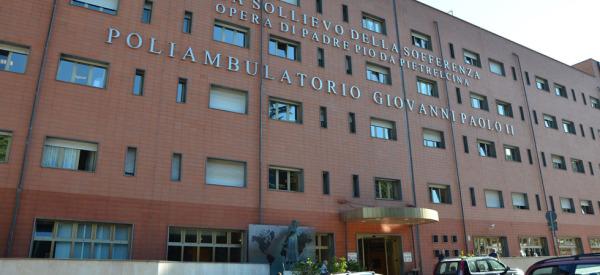 GARGANO - SEP 15: The hospital in San Giovanni Rotondo. Septambe
