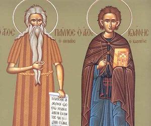 Η εκδήλωση της αγάπης προς το Θεό (Μνήμη Αγ. Παύλου του Θηβαίου & Ιωάννου Καλυβίτου)