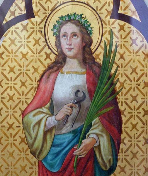 H εικονογραφία της αγίας Αγάθης στη βυζαντινή και δυτική τέχνη