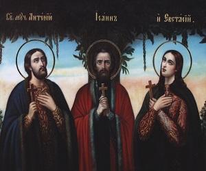 Οι Άγιοι Μάρτυρες Αντώνιος, Ιωάννης και Ευστάθιος της Βίλνας