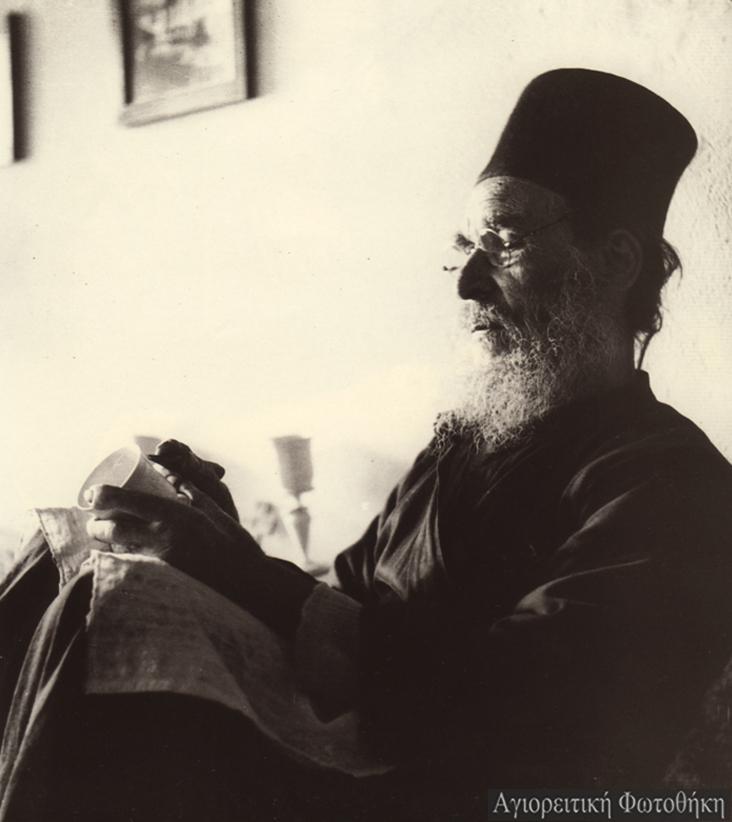 Κοσμάς μοναχός Καυσοκαλυβίτης (Φωτογραφία: Σπύρος Μελετζής, 1950) -Πηγή: athosprosopography.blogspot.gr