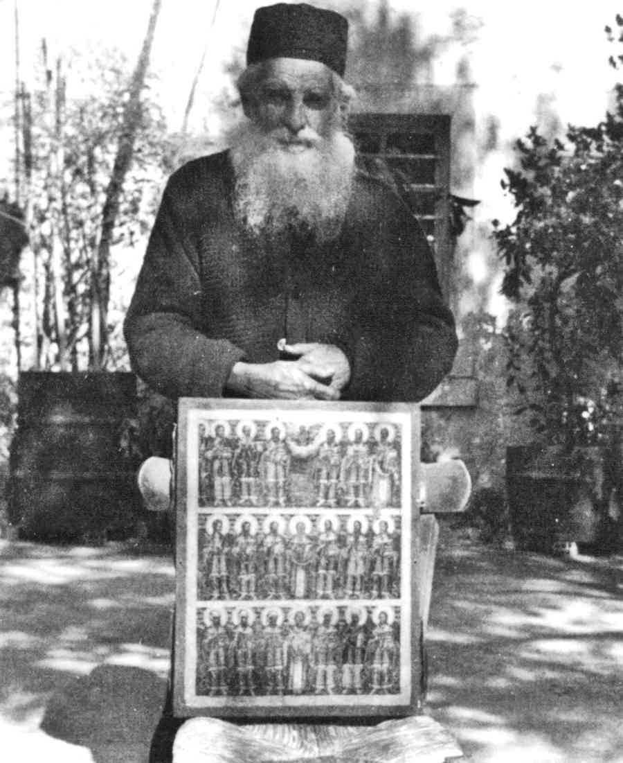Μοναχός Θεοφύλακτος Νεοσκητιώτης, ο διακονητής των Αγίων Αναργύρων (φωτ. ιερομ. Προδρόμου)