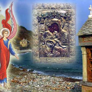 Ένας άγγελος ψάλλει το «Ἄξιον ἐστίν»