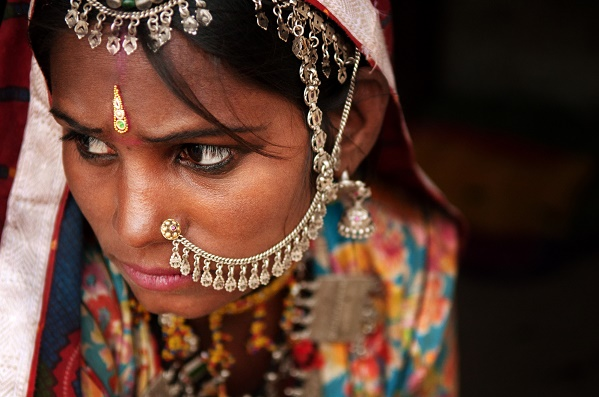 Portrait of Traditional Indian woman