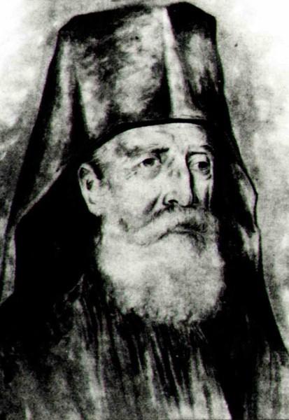 Ο ιερομόναχος Δανιήλ Κατουνακιώτης (σχέδιο Κωνσταντίνου Ξενόπουλου)