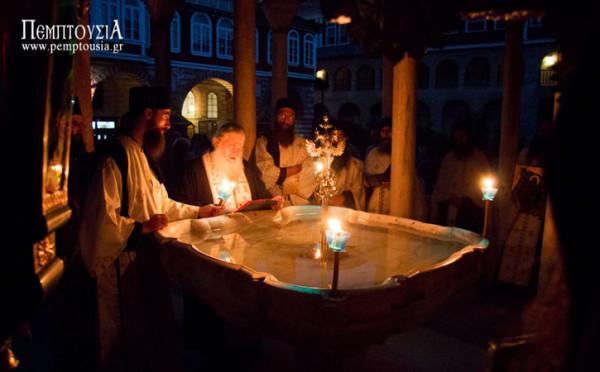 Η λιτανεία του Προφήτη Ηλία στο Βατοπαίδι (Αγιασμός)