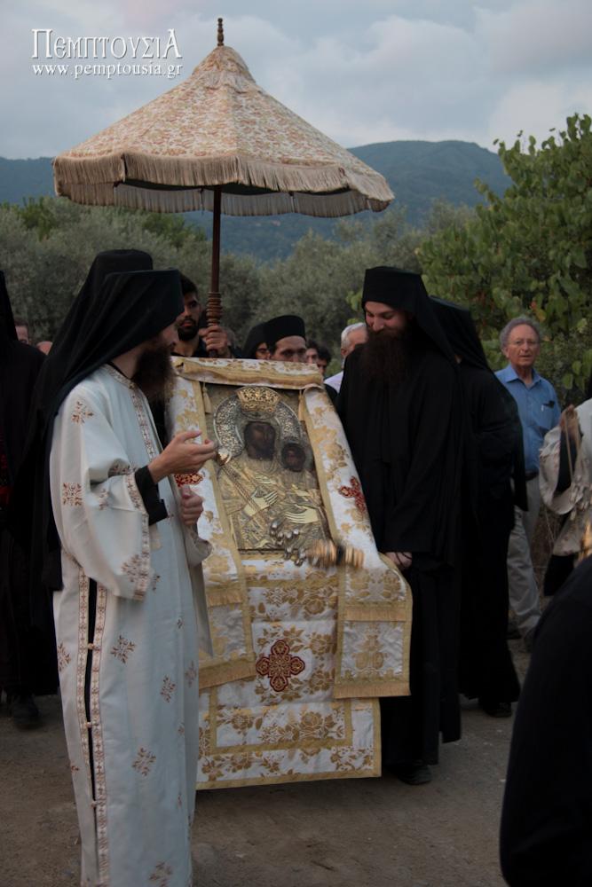 Η λιτανεία του Προφήτη Ηλία στο Βατοπαίδι (περιφορά της Εικόνας)