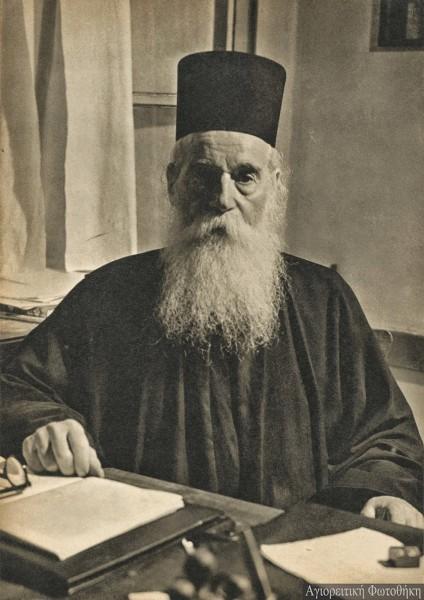 Αμβρόσιος μοναχός Λαυριώτης (1884-1977) (Φωτογραφία: Chrysostomus Dahm, 1957) Πηγή φωτογραφίας: http://athosprosopography.blogspot.gr