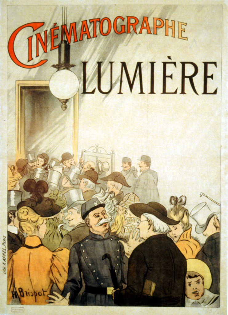 Cinematograph Lumiere advertisement 1895