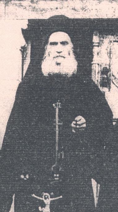 Μοναχός Νήφων Κουτλουμουσιανός (λεπτομέρεια από φωτ.1933)