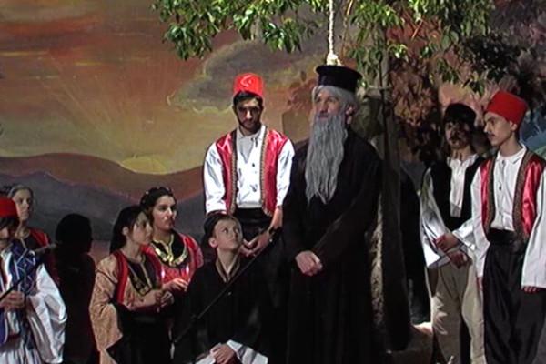 Ο άγιος που σκόρπιζε φως και ελπίδα -Σκηνή 5η (Το τέλος του Αγίου)