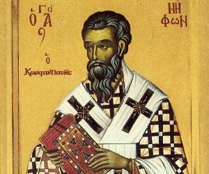 Άγ. Νήφων Επίσκοπος Κωνσταντιανής, ο θεόπτης