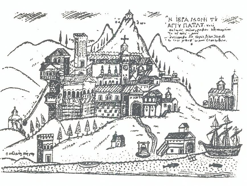 Ιερά μονή Αγίου Παύλου, σχέδιο Ράλλη Κοψίδη (1956)