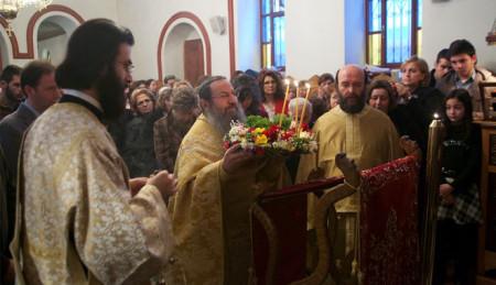 Κυριακή της Σταυροπροσκυνήσεως στο Σιμωνοπετρίτικο Μετόχιο του αγ. Χαραλάμπους Θεσσαλονίκης