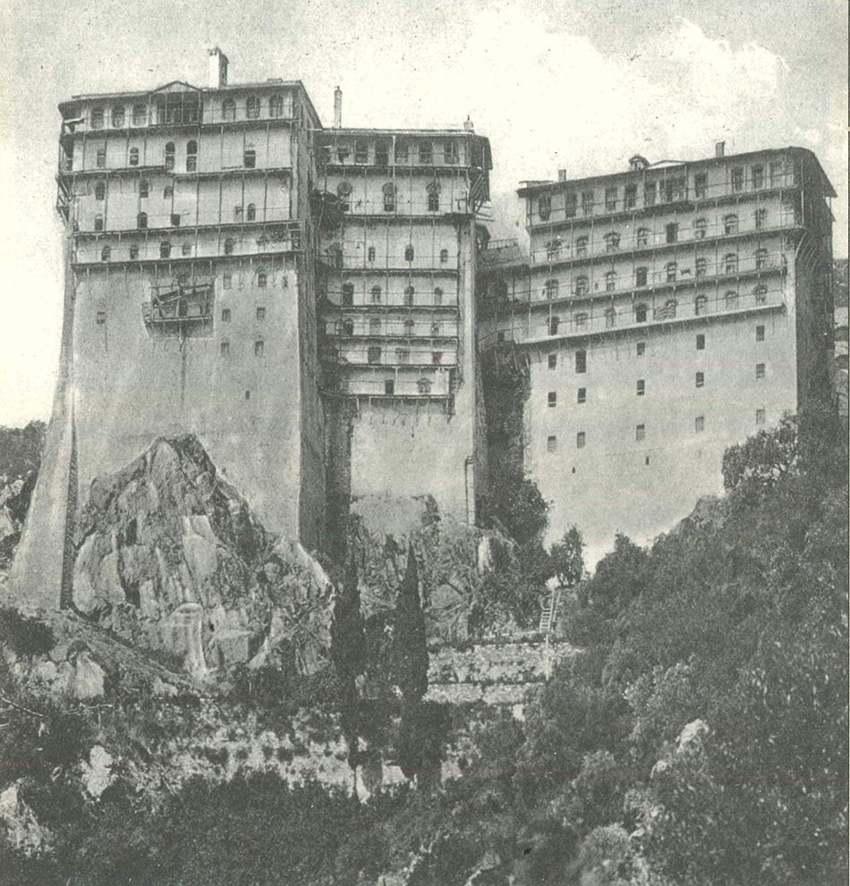 Η ουρανογείτων μονή Σίμωνος Πέτρας (φωτ. 1928)