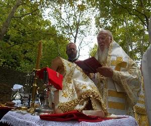 Ο Οικουμενικός Πατριάρχης στην Ιερά Μονη Παναγίας Φανερωμένης Κυζίκου